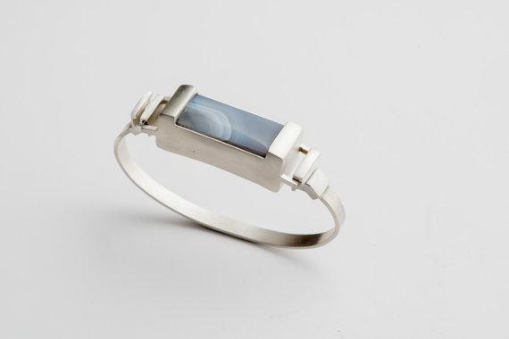 Woman's Silver FitBit Flex Cuff Bracelet - Creek